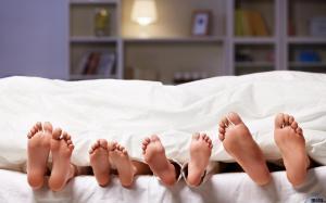 foot under blanket