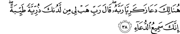 surah al imran 38